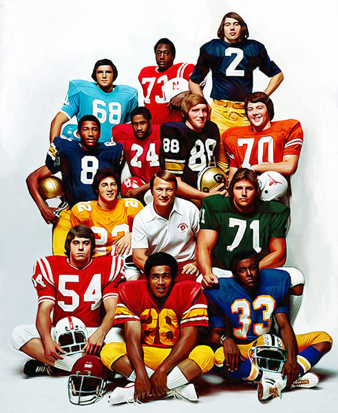 Playboy's 1974 All-Amerian Offensive Team